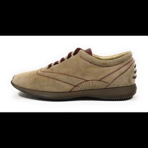 Hogan Women's Beige Suede Leather Sneakers